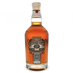 CANASTA CON WHISKY CHIVAS REGAL 25 AÑOS